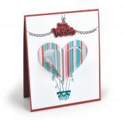 Be My Valentine Hot Air Balloon Card
