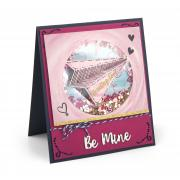 Be Mine Paper Airplane Card