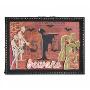 Beware Ghoulish Monsters Frame