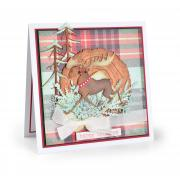 Happy Holidays Merry Moose Card