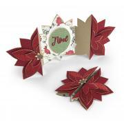 Noel Poinsettia Fold-a-Long Card