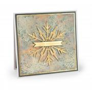 White Christmas Snowflake Card