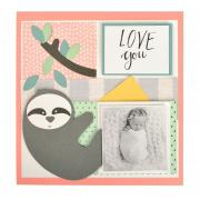 Love You Sloth Scrapbook Page