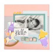 Hello Baby Scrapbook Page