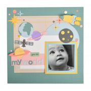 You Are My World Scrapbook Page