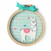 Llama Embroidery Hoop