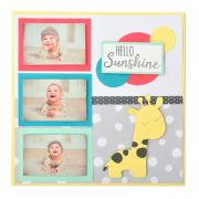 Hello Sunshine Giraffe Scrapbook Page