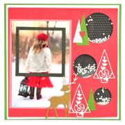 Christmas Elements Scrapbook Page