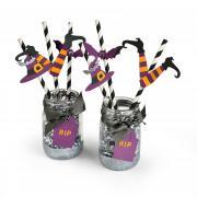 Spooky Witch Straws
