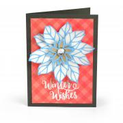 Poinsettia Winter Wishes Card