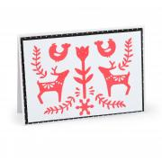Reindeer Winter Card