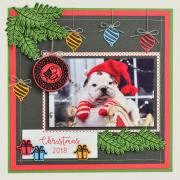 Hanging Ornaments Scrapbook Page