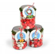 Snow Globe Jar Tag