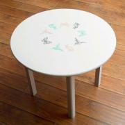 Vinyl Stenciled Kids Table