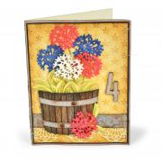 4th of July Flowers Card
