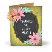 Thanks So Very Much Flowers Card