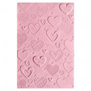 Sizzix 3-D Textured Impressions Embossing Folder - Hearts
