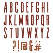 Sizzix Thinlits Die Set 65PK - Alphanumeric Classic Upper by Tim Holtz