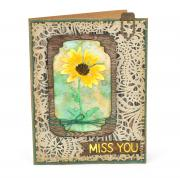 Miss You Flower Card