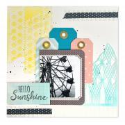 Hello Sunshine Scrapbook Page