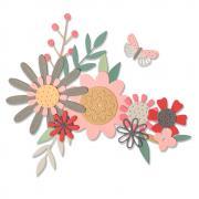 Sizzix Thinlits Die Set 17PK - Bold Flora