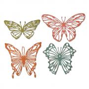 Sizzix Thinlits Die Set 4PK - Scribbly Butterflies by Tim Holtz