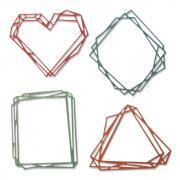 Sizzix Thinlits Die Set 4PK - Geo Frames by Tim Holtz