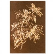 Sizzix 3-D Texture Fades Embossing Folder - Poinsettia by Tim Holtz