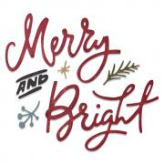 Sizzix Thinlits Die Set 6PK - Merry & Bright by Tim Holtz