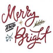 Sizzix Thinlits Die Set 6PK - Merry & Bright by Tim Holtz