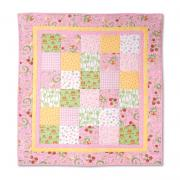 "Pink ""A"" is for Apple Quilt"