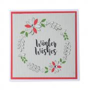 Winter Wishes Cut-Out Wreath Card