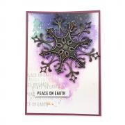 Peace on Earth Snowflake Card