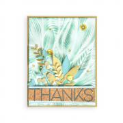 Fallen Leaves Thanks Card