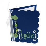 Jeweled Hello Card