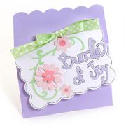 Bundle of Joy Card w/Pink Flowers