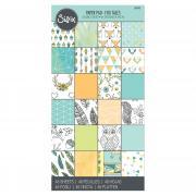 """Sizzix Paper - 6"""" x 12"""" Cardstock Pad, Fox Tales, 48 Sheets"""