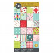 "Sizzix Paper - 6"" x 12"" Cardstock Pad, Merry & Bright, 48 Sheets"