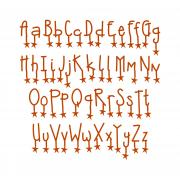 Sizzix Sizzlits Alphabet Set 9 Dies - Doodle with Dazzle