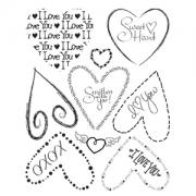 Sizzix Rub Ons - Hearts