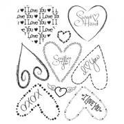 Sizzix Rub Ons - Hearts