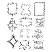 Sizzix Rub Ons - Background Shapes