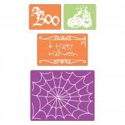 Sizzix Textured Impressions Embossing Folders 4PK - Halloween Set