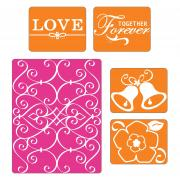 Sizzix Textured Impressions Embossing Folders 5PK - Wedding Set #2