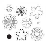 Sizzix Clear Stamps - Flowers, Happy