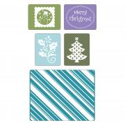 Sizzix Textured Impressions Embossing Folders 5PK - Christmas Set #4