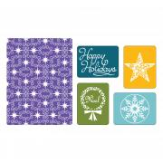 Sizzix Textured Impressions Embossing Folders 5PK - Winter Set #3