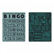 Sizzix Texture Fades Embossing Folders 2PK - Bingo & Patchwork Set