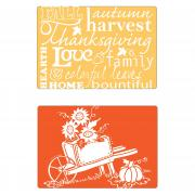 Sizzix Textured Impressions Embossing Folders 2PK - Autumn Sunflowers Set