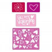 Sizzix Textured Impressions Embossing Folders 4PK - Valentine Set #4